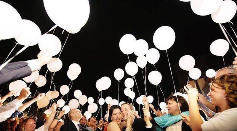шарики со светодиодами на свадьбу